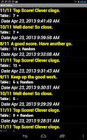 Screenshot of Math Tables 2+2
