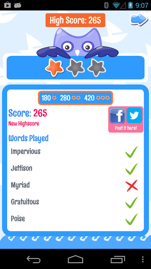 PowerVocab Word Game- screenshot
