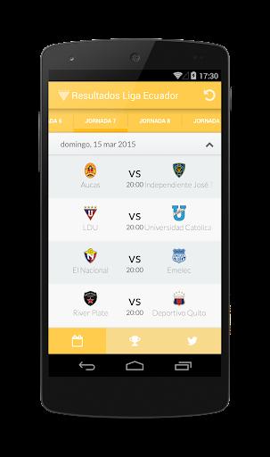 Resultados Liga Ecuador