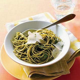 Swiss Chard Pesto Pasta.