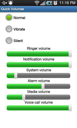 Quick Volume Settings
