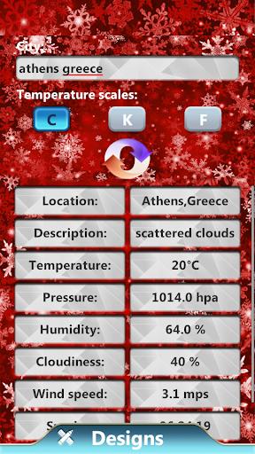 New Year Weather Clock Widget