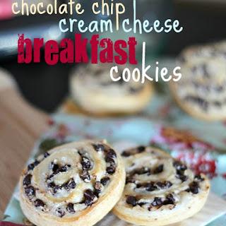 Chocolate Chip Cream Cheese Breakfast Cookies.