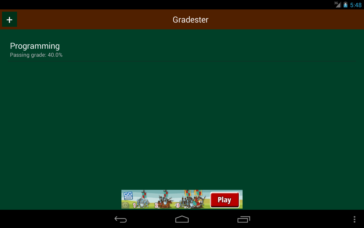 Gradester - screenshot