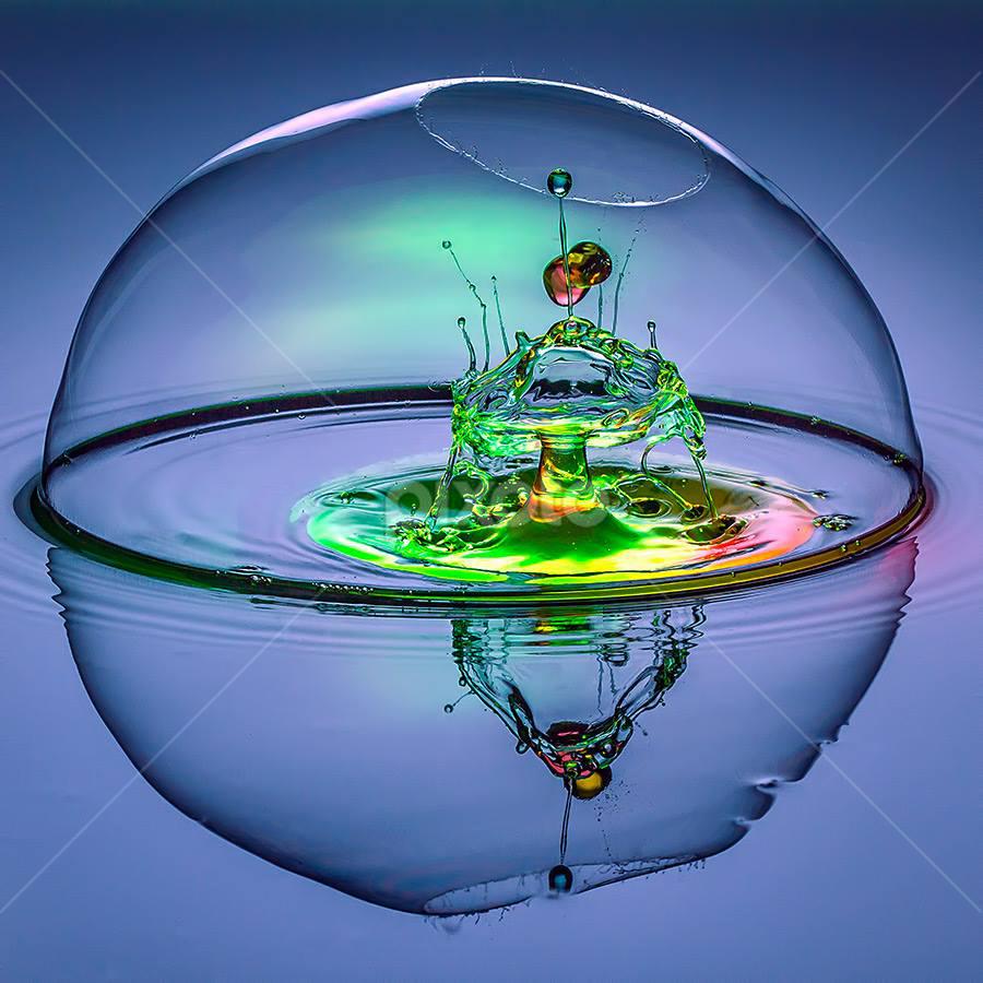 Pandora's Ozone by Ganjar Rahayu - Abstract Water Drops & Splashes ( waterdrop )