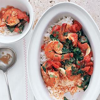Shrimp Scampi with Spinach