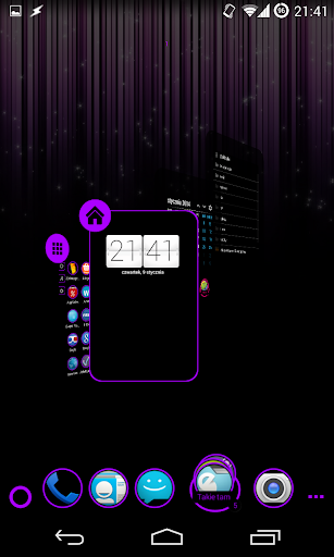 免費個人化App|TSF Shell Theme Holo Purple|阿達玩APP