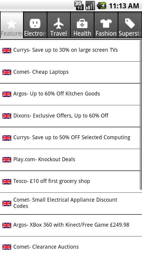 CouponCoupon.co.uk Vouchers - screenshot