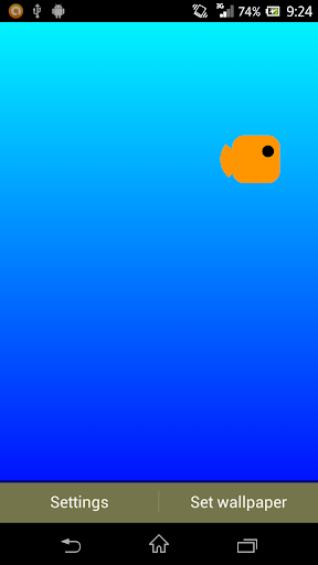 Block Fish Live Wallpaper