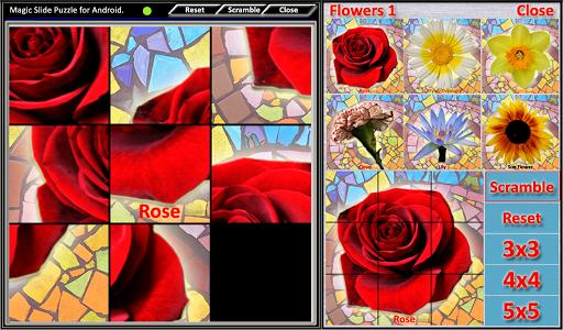 Magic Slide Puzzle Flowers1