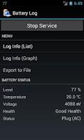 Screenshot of Battery Log