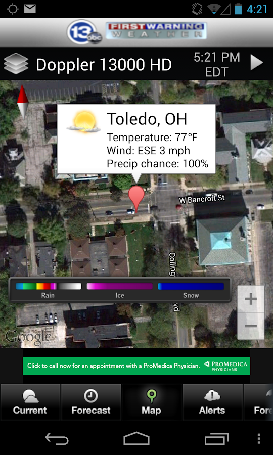 13abc Weather Radar - screenshot