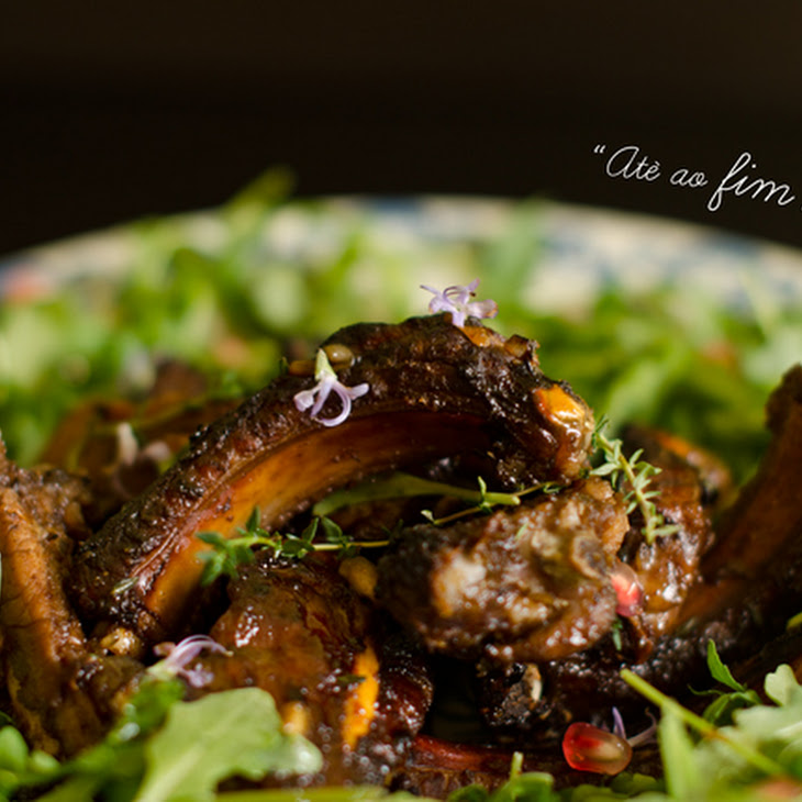 Pork Ribs with Pomegranate