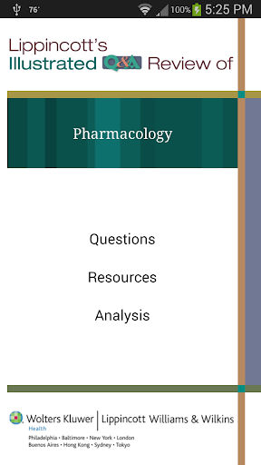 Pharmacology Lippincott's Q A