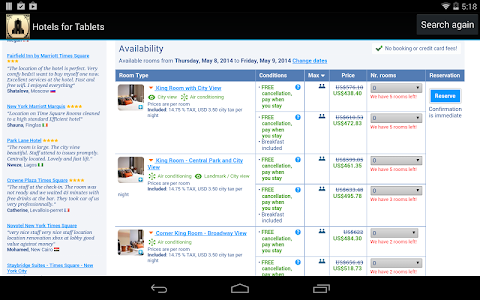 Hotels for Tablets screenshot 2