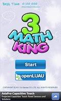 Screenshot of Mathking3
