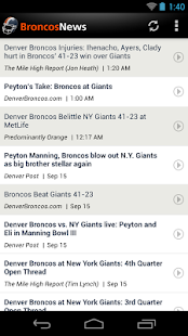 Broncos News - screenshot thumbnail