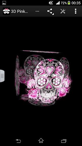玩生活App|3D Pink Skull LWP免費|APP試玩