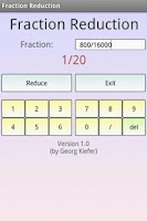 Screenshot of Fractions Math