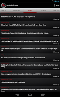 MMA Follower: All of MMA & UFC - screenshot thumbnail