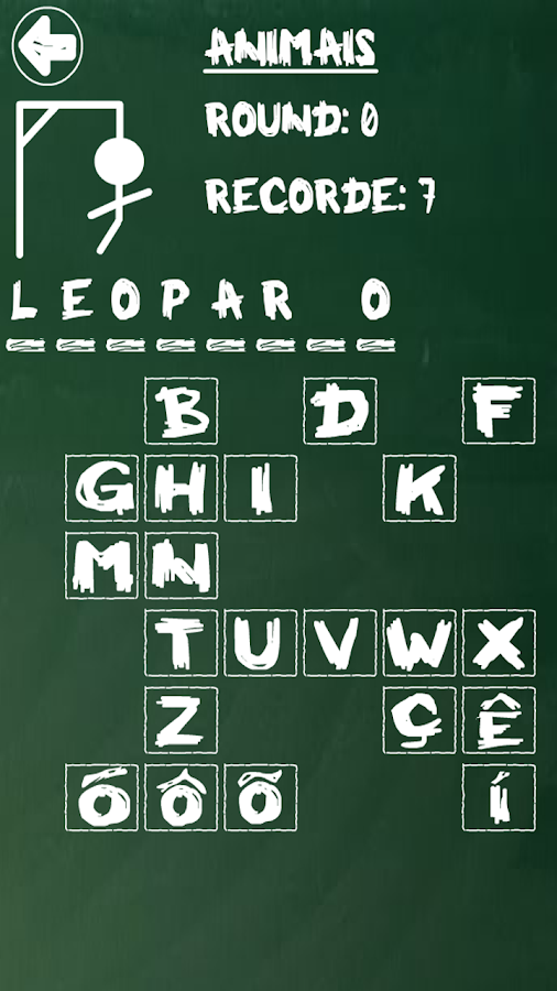 Hangman (Portuguese) - screenshot