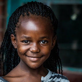 That smile by Werner Booysen - Babies & Children Child Portraits ( look, looking, portrait photographers, girl, south africa, young girl, smile, young, portrait, werner booysen, , Travel, People, Lifestyle, Culture )