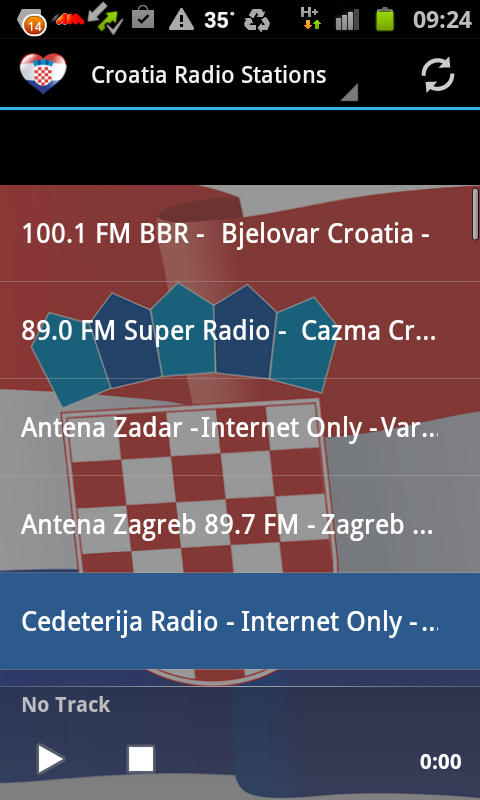 Croatia Radio Music & News - screenshot
