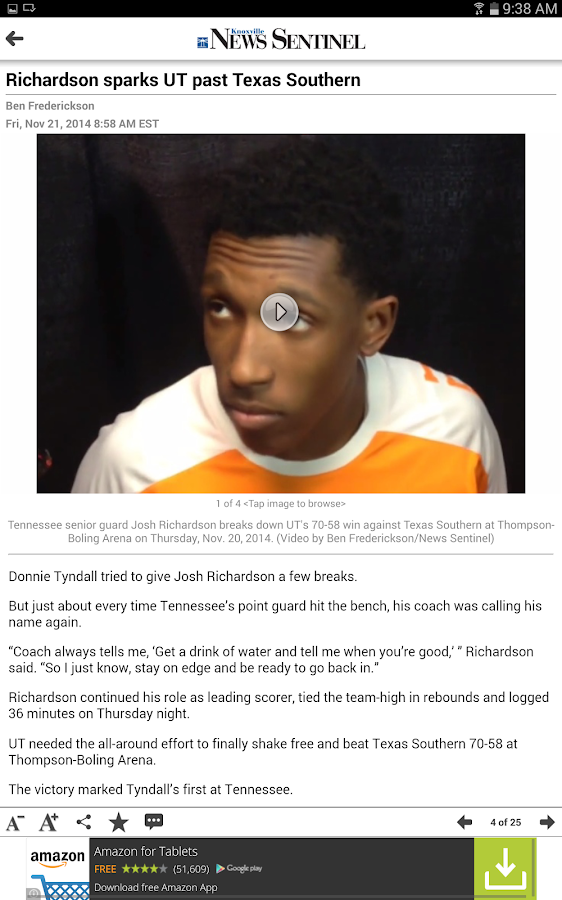 Knoxville News Sentinel- screenshot