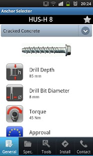 Hilti Anchor Selector- screenshot thumbnail