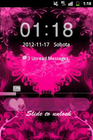GO Locker Theme Pink Hearts- screenshot