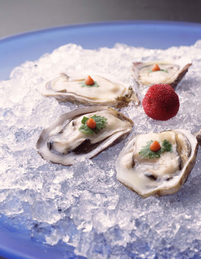 Culinary-Experiences-Nobu-Oyster-Plate - The Nobu Oyster Plate ushers in an evening of relaxation and fun aboard Crystal Serenity.