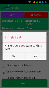 eTest- screenshot thumbnail