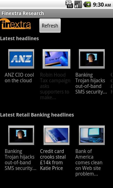 Finextra News - screenshot