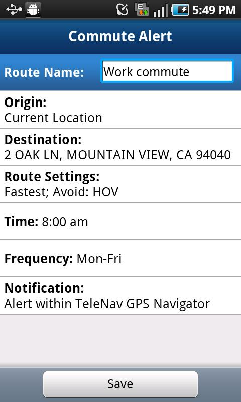 TeleNav GPS Navigator for TMO - screenshot