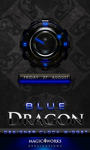 Blue Dragon Clock Widget