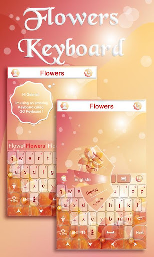 Flowers GO Keyboard Theme