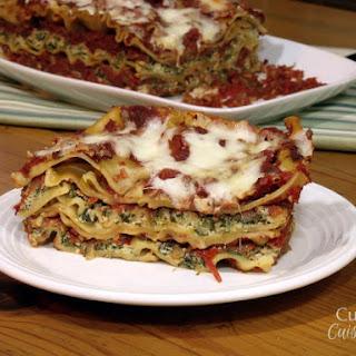 No-Boil Mushroom and Spinach Lasagna