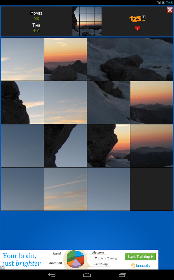 Picture Sliding Puzzle - screenshot