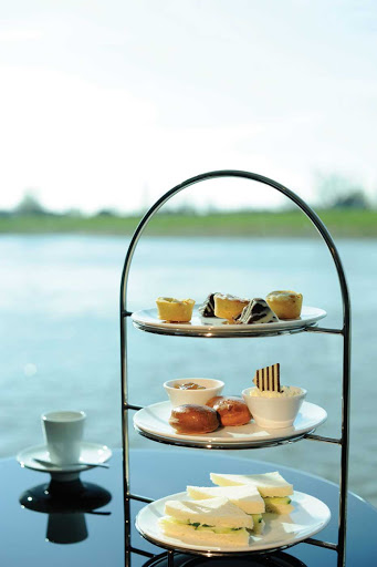 Riverview Terrace on Scenic Cruises is the perfect place for traditional English High Tea.