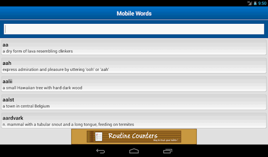 Mobile Words - screenshot thumbnail