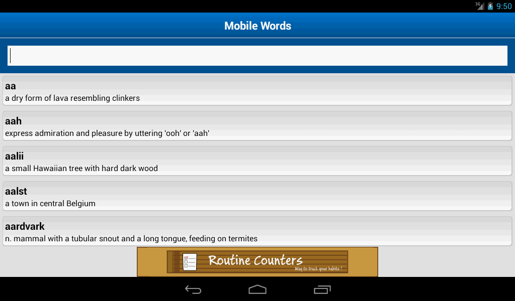 Mobile Words- screenshot