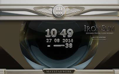 Digi Clock Widget Iron Sun APK screenshot thumbnail 5