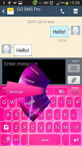 粉红色的激光键盘