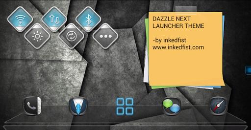Dazzle Next Launcher Theme 3D