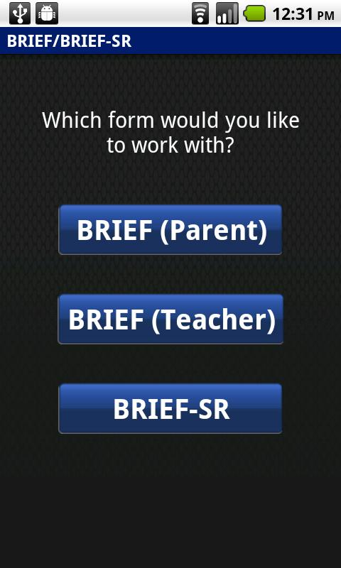 BRIEF/BRIEF-SR Scoring Module- screenshot