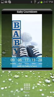 Baby Countdown Widget