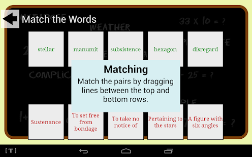 SAT Vocab Game- screenshot thumbnail