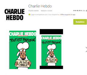 https://play.google.com/store/apps/details?id=fr.charliehebdo.journal