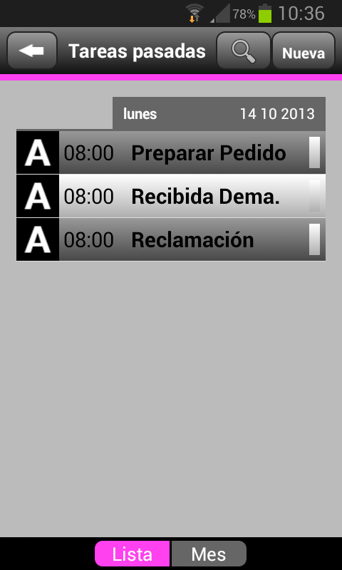Agenda MNprogram - screenshot