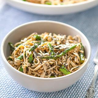 Miso-Roasted Asparagus Soba Noodle Salad.